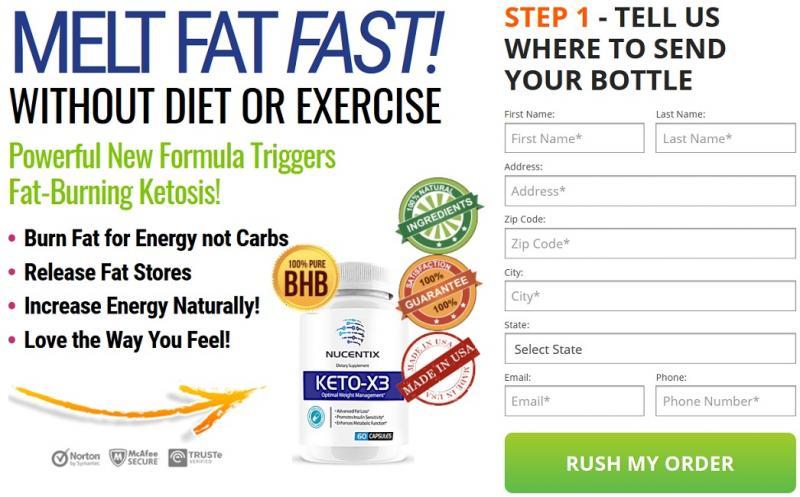 Nucentix Keto X3 Reviews Scam Or Legit - Keto X3 Weight Loss Pills  