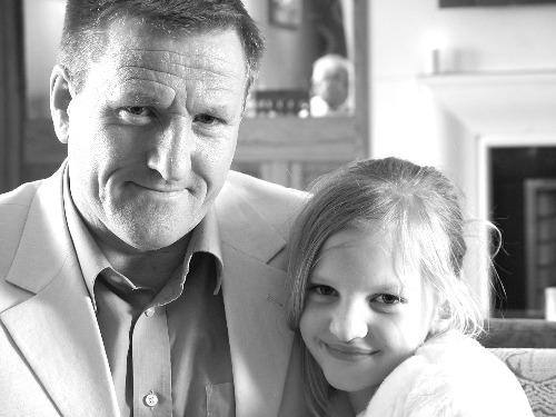 Ian Hayes and daughter