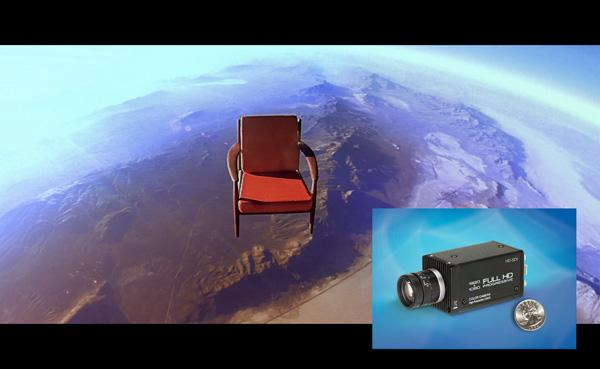 Toshiba Imaging's IK-HR1S Hi-Def Cameras Image Chair in Space