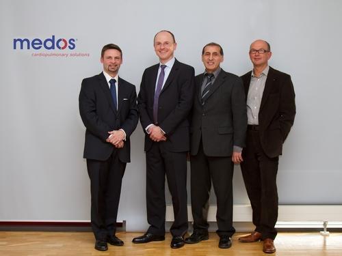 Josef Bogenschuetz, Juergen Boehm MD (Board), Reinhold Beuter (Site Manager), Thomas Villinger (Chairman Board of Directors)