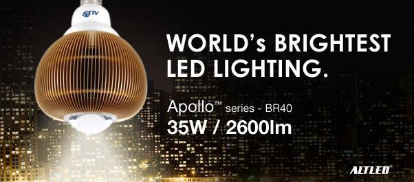 World's Brightest LED lighting BR40