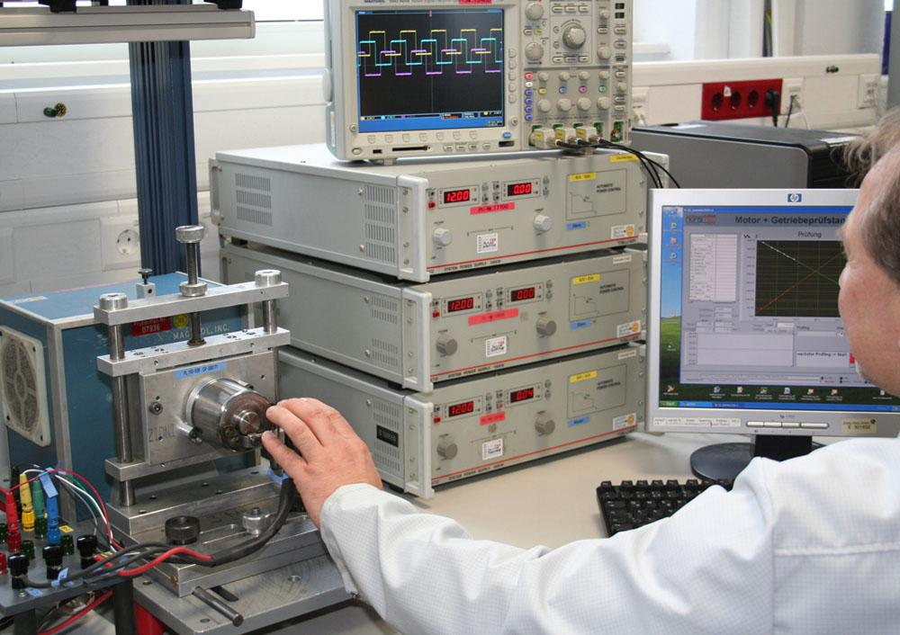 Bühler Motor prototyping:Electrical motor and geartrain testing