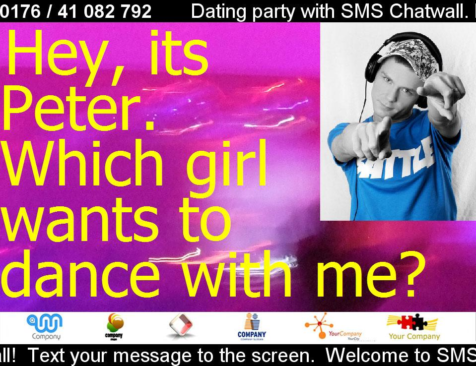 Mobile Dating Party via Chatwall (Picture: Haase & Martin, fotolia.de)