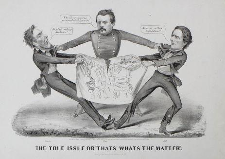 Currier & Ives, The True Issue or ?That?s What?s the Matter?.  Published in New York, 1864.  13.5 x 17.75 inches, lithograph