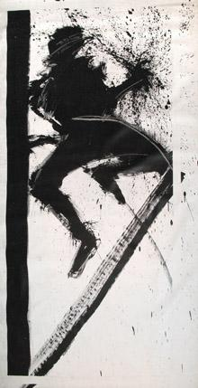 Richard Hambleton, ?Bar on Left?, Acrylic on canvas, 1983, 254x133cm © Woodward Gallery