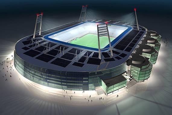 BTD und Werder coorporate - Weser Stadium / Bremen (computer animation)