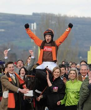 Sam Waley-Cohen after winning the 2011 totesport Cheltenham Gold Cup