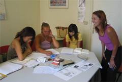 Language Course Students in Class