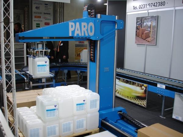 PARO is presented with special combinatory gripper for canisters, boxes, and interlayers