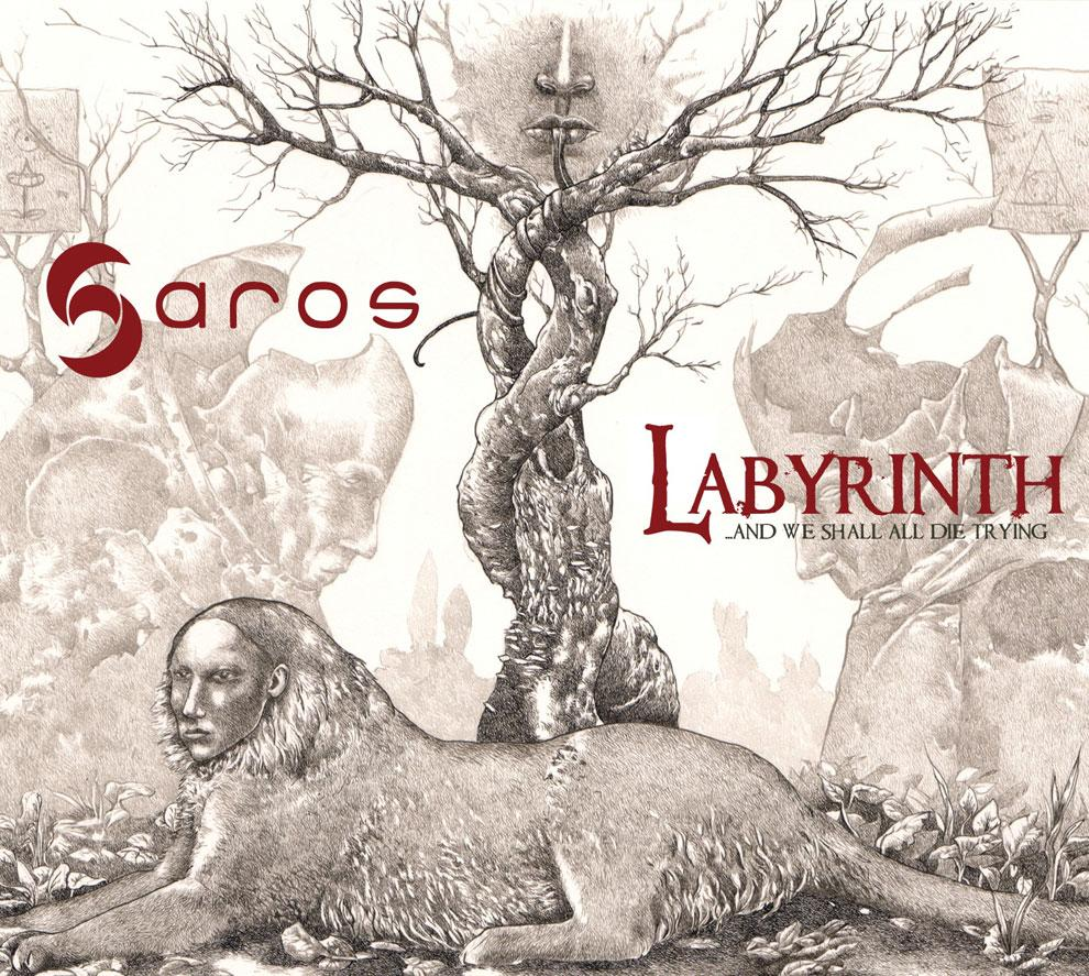 """""""The Riddle"""" by Richard A. Kirk stars on the cover of the """"Labyrinth"""" album that presents Joerg Huettner's the music that accompanied Kirk's exhibition at Strychnin Gallery Berlin in 2008."""
