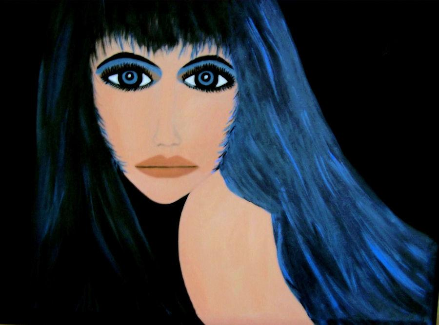 Raven, painted by Carol Piner, author of Evidence of Insanity
