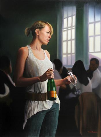 Michael James Smith, Unsocial Networking, Oil on canvas.