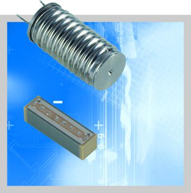 Two versions of the PICMA® piezo actuator (5x5x18 mm): Conventional multilayer actuator and with stainless steel casing for a hermetic seal and additional moisture protection
