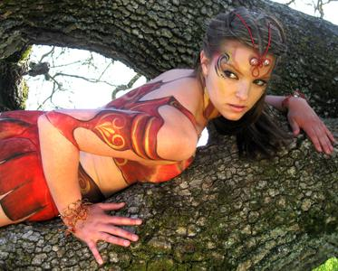 Body Painted Fairy Warrior