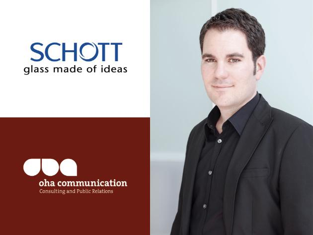 Oliver Frederik Hahr and the team at oha communication support the technology group SCHOTT with international trade PR. Source: oha communication / SCHOTT