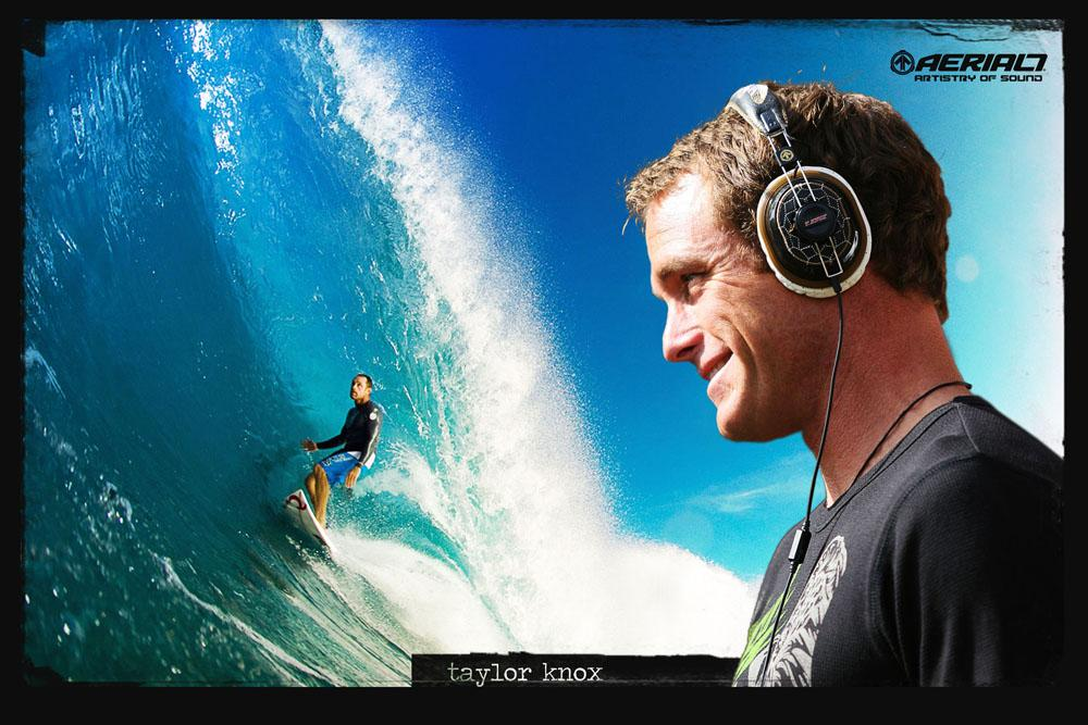 Taylor Knox wearing T.Knox Chopper2 Headphones by AERIAL7