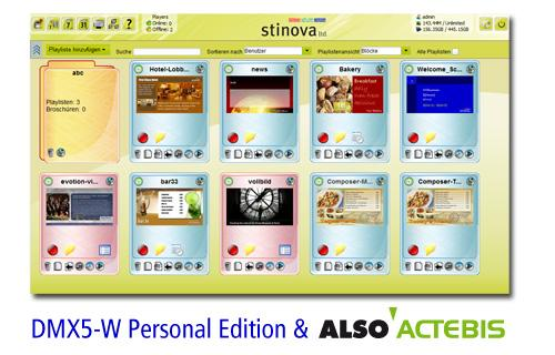 Stinova Digital Signage Software DMX5 at ALSO Actebis Distribution