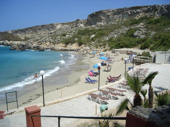 Paradise Bay in the north of Malta