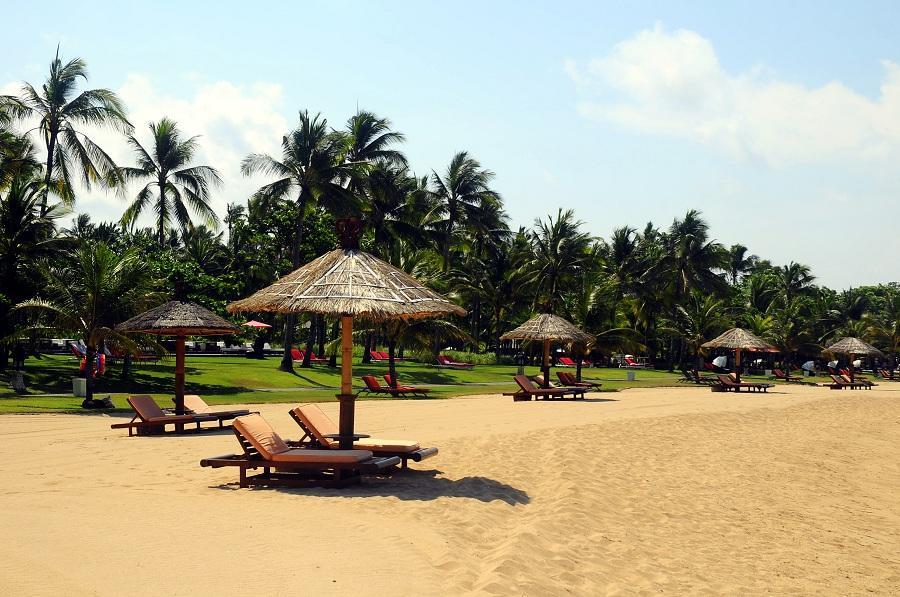 beachfront of Club Med in Nusa Dua Beach, Bali