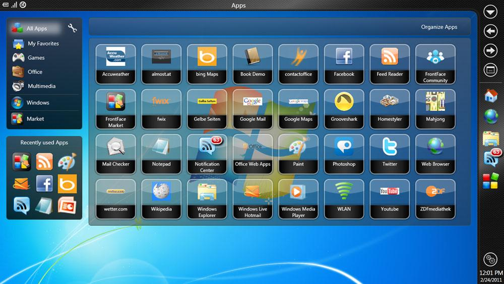 FrontFace for Netbooks & Tablets