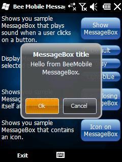 Bee Mobile MessageBox
