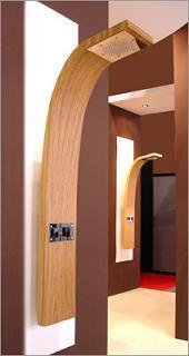 Wood shower panel