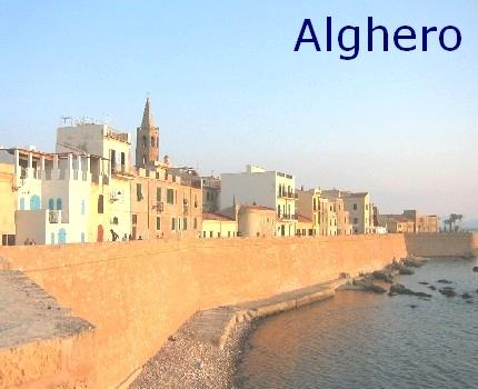 Alghero - town with Catalan influence on the north-western coast of Sardinia.