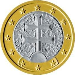 Slovak One Euro Coin