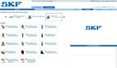 The SFK Lubrication Systems Germany AG electronic 3D CAD product catalog, based on CADENAS eCATALOGsolutions technology.