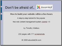 Joomla 1.5 tutorial with 230 pages and 171 screenshots