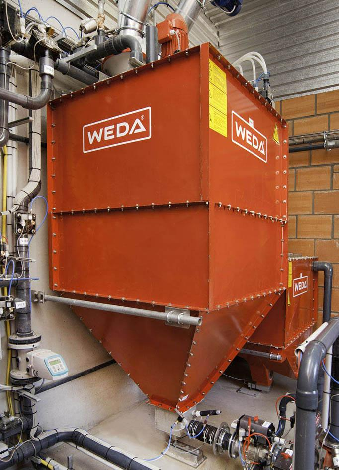 An innovation ? the ?sump? underneath the WEDA container