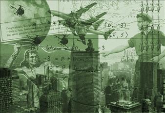 Michael Katz, Retro NYC - PamAm Building, Photographic Print in Acrylic Sandwich