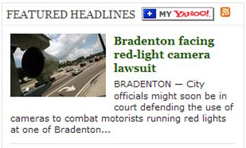 David Haenel spoke with the Bradenton Herald about red-light cameras in Manatee County.