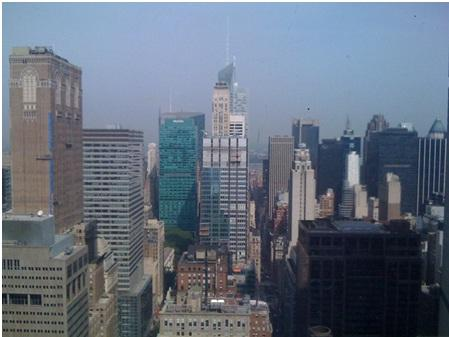 View from the Sapphire office on the 49th floor of the Chrysler Building, Manhattan
