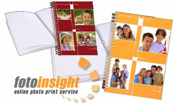 FotoInsight spiral note pads with photographs
