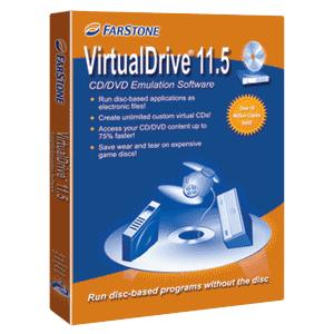 VirtualDrive 11.5 offers ISO image support, custom VCD cabinets, and enhanced virtual CD creation