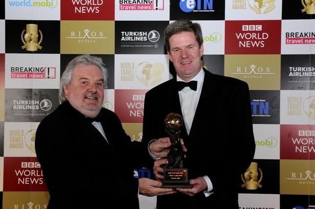 World Travel Award for Bart Westerhout, General Manager Swissôtel Tallinn (right)