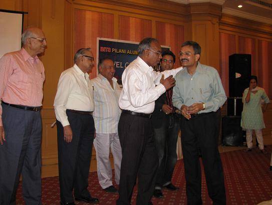 Proud to be BITSian Akhilesh Jain President with seniors of BITSAA Indore Chapter