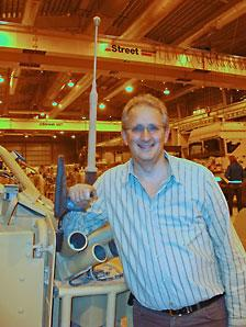 MP Andrew Bingham at Camp Bastion in Afghanistan came across two cranes manufactured by Street Crane.