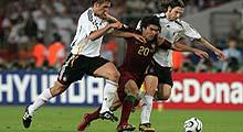Euro 2008: Deco is challenged during the 2006 World Cup