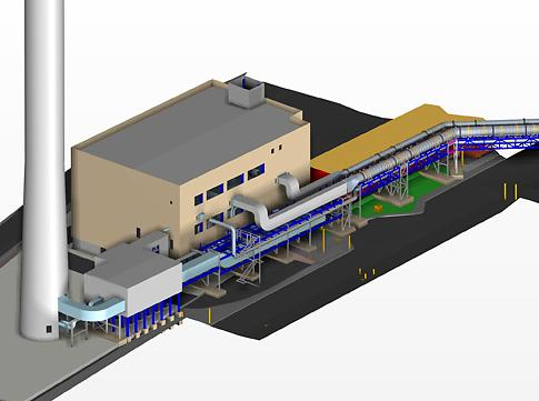 CAD of Hargreaves ductwork for the Sellafield Separation Area Ventilation (SAV) project
