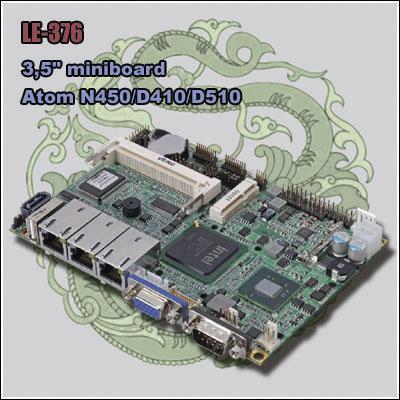 "COMMELL LE-376 - 3.5"" SBC based on Intel Atom D510/D410/N450"