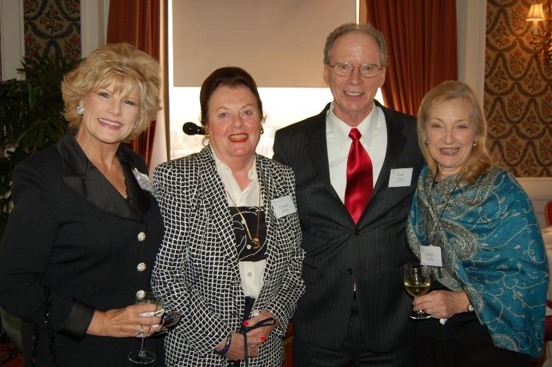 Valerie Hoffman, Donna Mettler, Dr. Gary Lorden, and his wife Louise enjoy the hosted reception at the Regency Club in Los Angeles