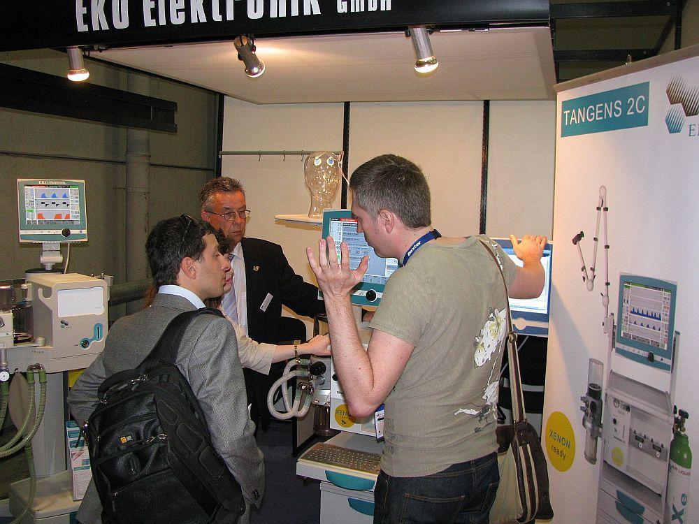 product presentation by Managing Director Hans Erdmann, on the left: TRIGOdis.
