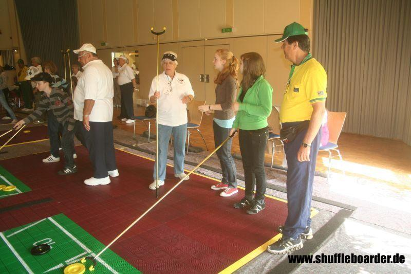 SpeedShuffleboard at the Inaugural in Germany
