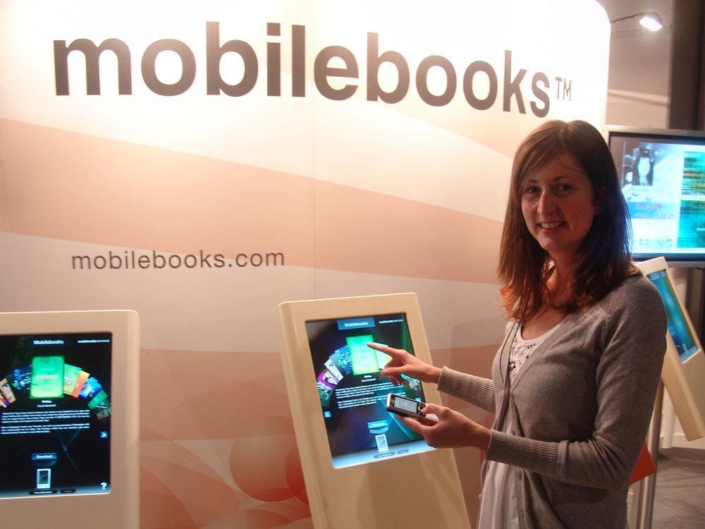 Download mobile books via Bluetooth at Frankfurt book fair.