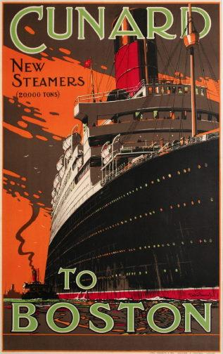 Advertisement for Cunard to Boston