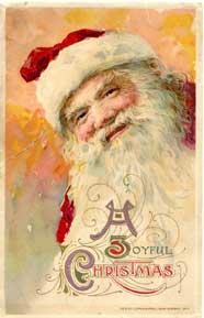 Vintage 19th century Santa Postcard