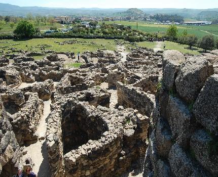 The nuraghic village of Barumini in Sardinia.