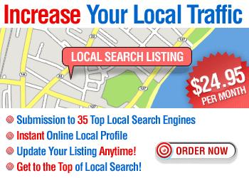 Local Search Listing helps you connect with your local customers, not just from Google, but across all the major local search engines.